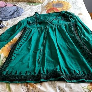 Lucky Brand embroidered tunic style dress